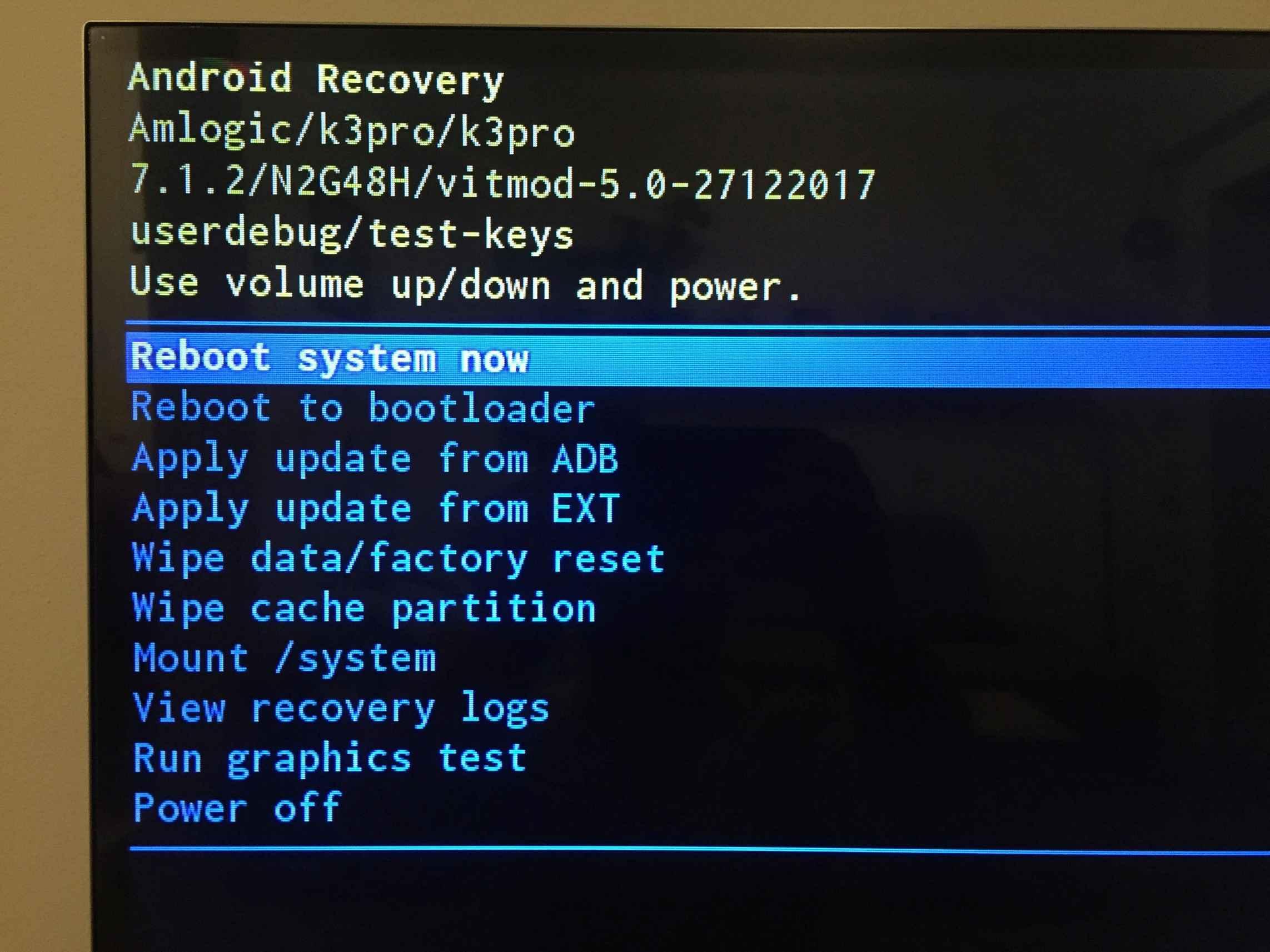 Power off system issue, KIII PRO just reboot - Installation