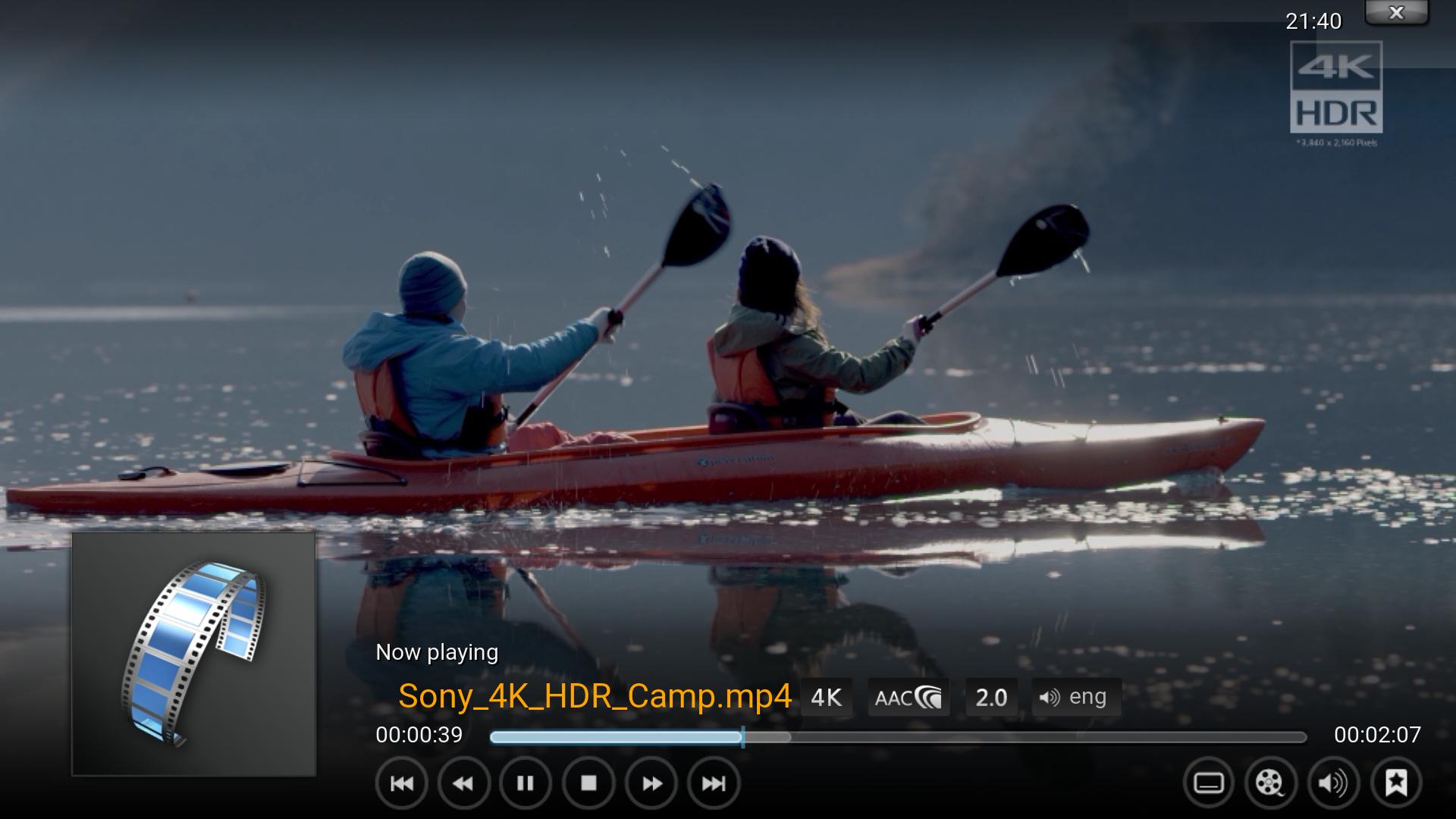Cannot make proper ScreenShot on x265 videos - Kodi